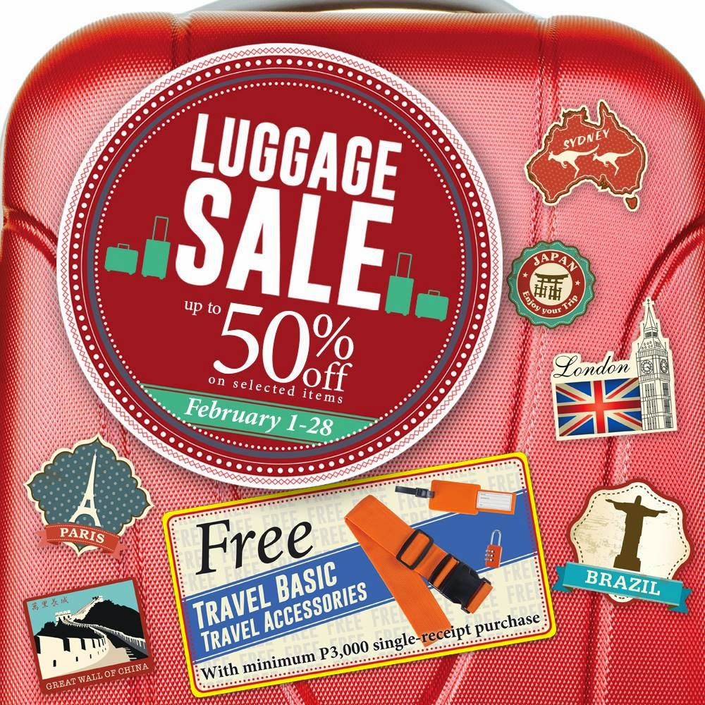 The SM Store Luggage Sale Feb2015