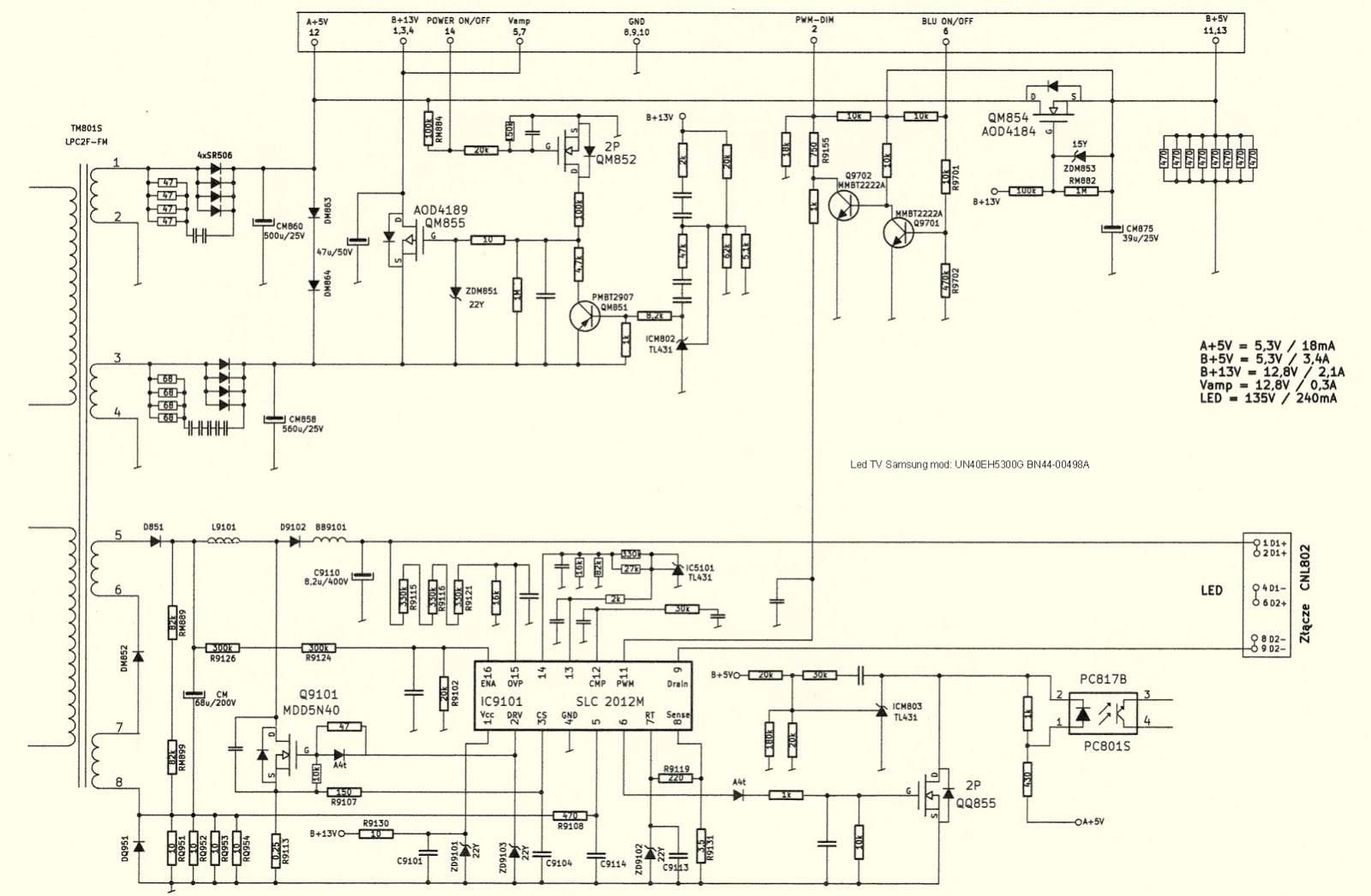 Схемы блоков питания самсунг bn44 11