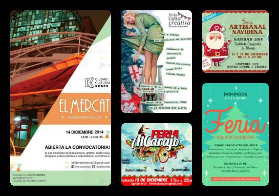 Ferias de diciembre en Buenos Aires: AlCarajo, Artesanal Navideña, Casa Creativa, Del Sol Naciente, El Mercat   www.curvaslibres.blogspot.com