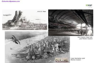 War of the Worlds Goliath new york manhattan concept art
