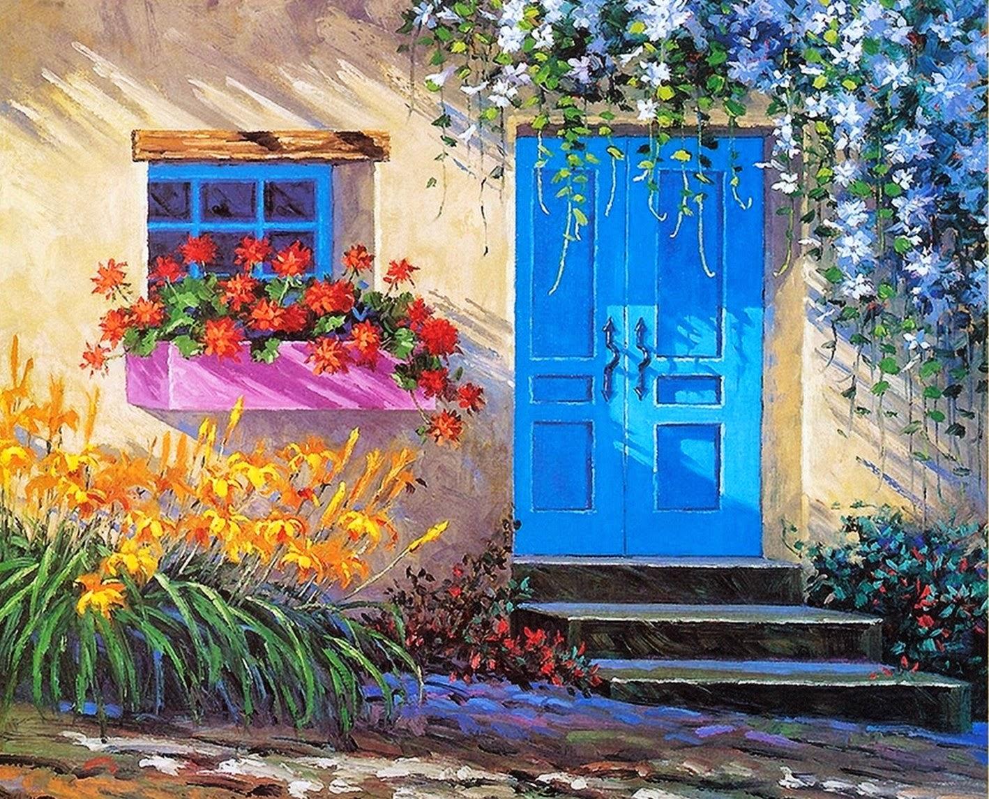 paisajes-y-flores-con-espátula