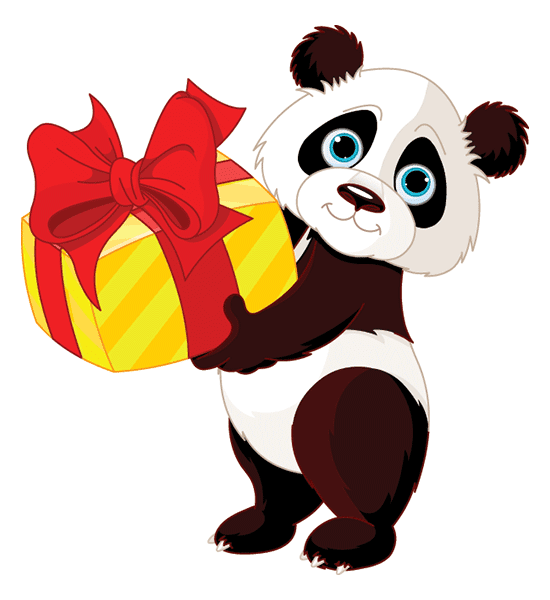 Panda Present Image