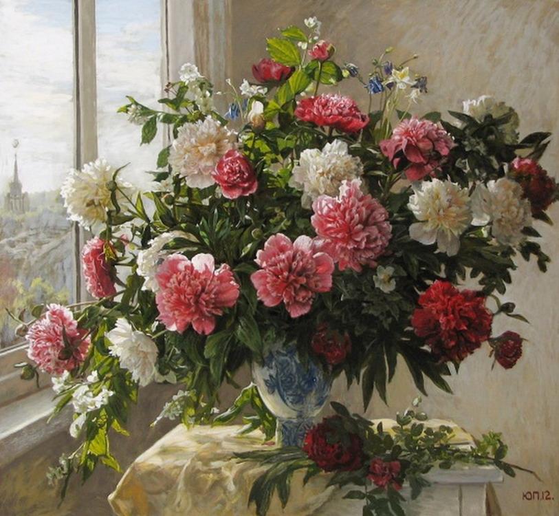 Cuadros modernos pinturas y dibujos ramos de flores - Fotos jarrones con flores ...