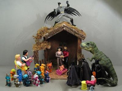Humor  Navidad belen star wars