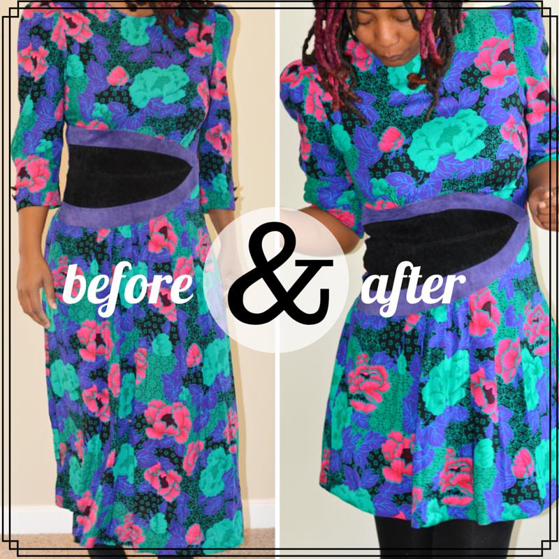 shorten length on dress