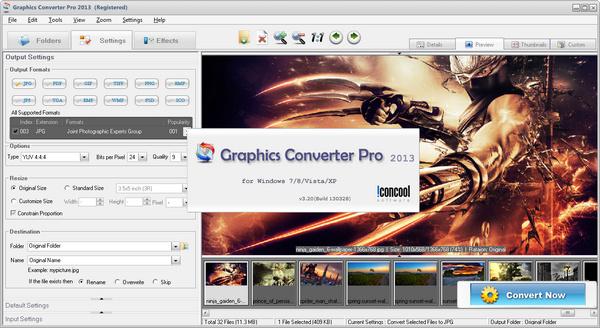 IconCool Graphics Converter Pro 2013v3.20 Screenshot01 IconCool ...