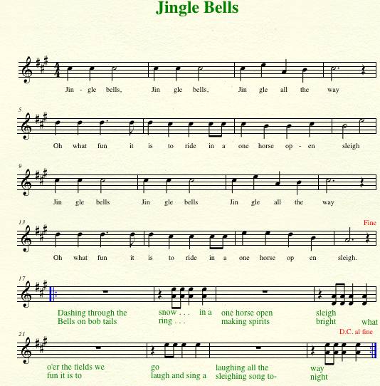 Violin violin tabs jingle bells : TEACH SUZUKI: It's That Time of Year (Christmas, Part 1)