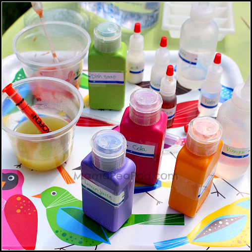 household liquids for testing acidity