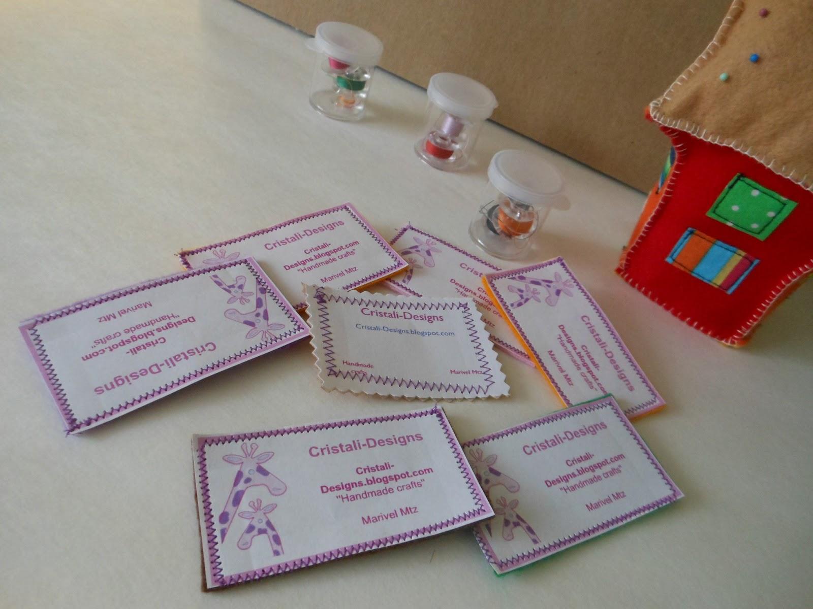 Cristali designs handmade business cards handmade business cards colourmoves