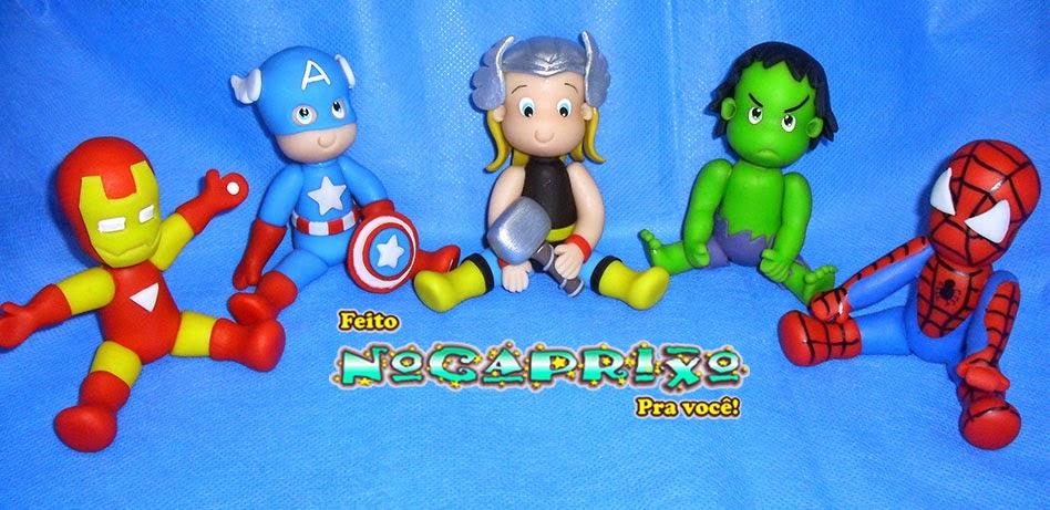 Topo de Bolo Infantil - Super Heróis