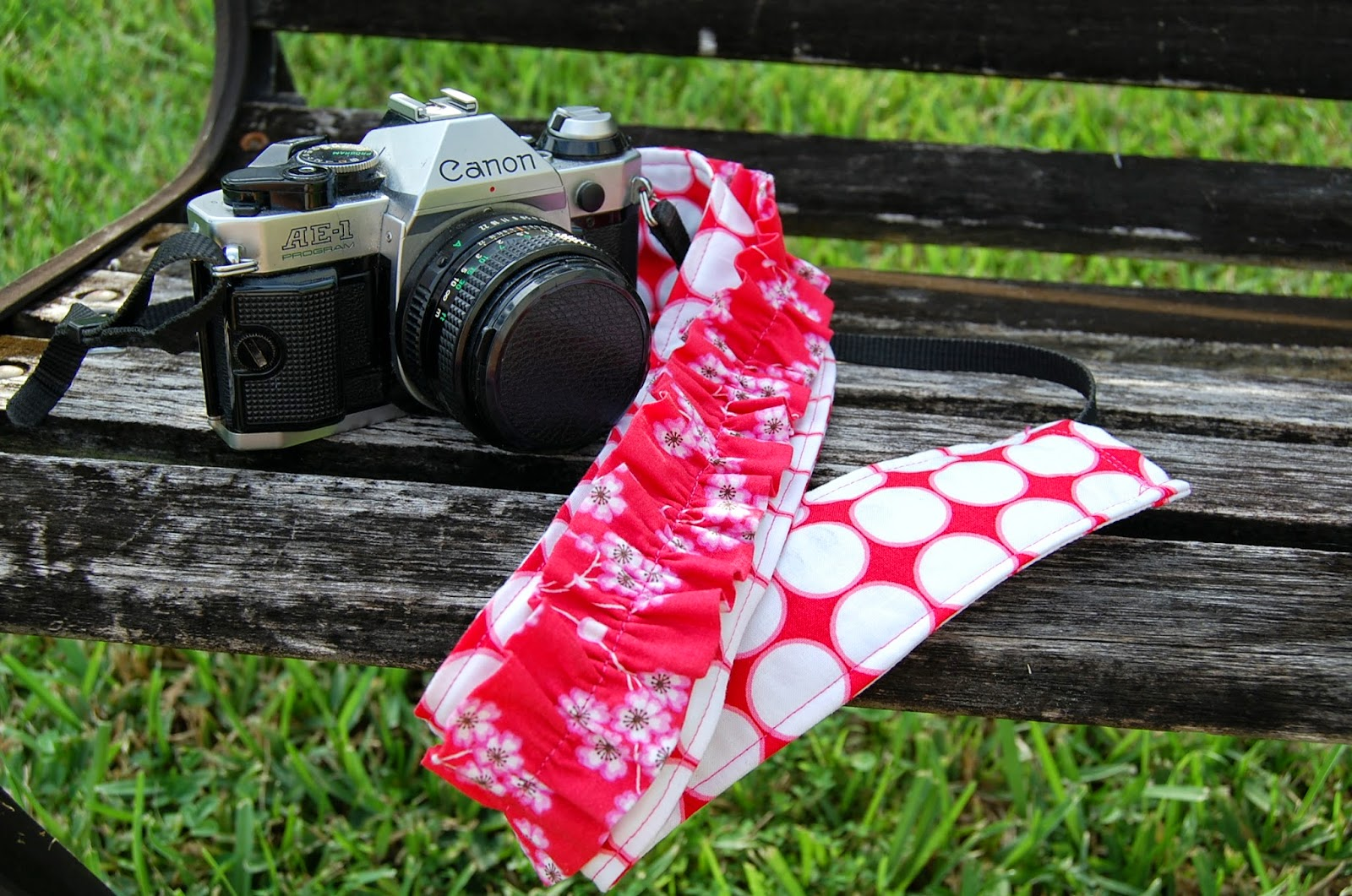 Ruffled camera strap cover