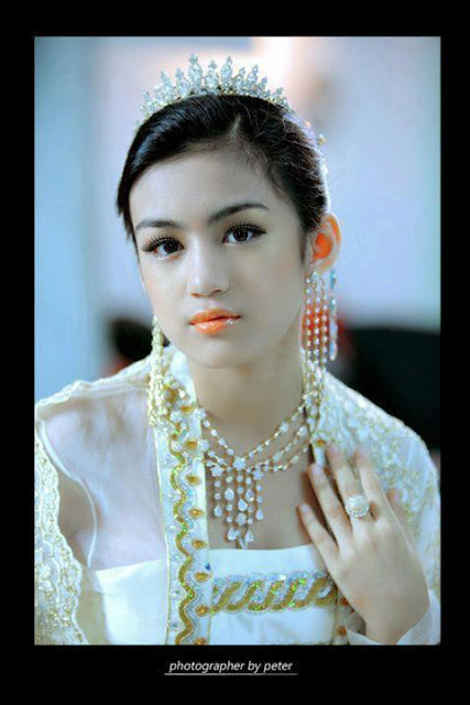 myanmar beautiful model girl yun wati lwin moe