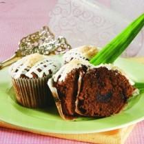 Gambar Cup cake cokelat kelapa
