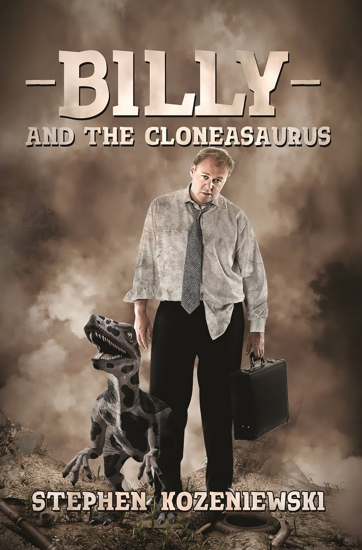 http://www.amazon.com/Billy-Cloneasaurus-Stephen-Kozeniewski-ebook/dp/B00L7RXG6U/ref=sr_1_1?s=books&ie=UTF8&qid=1418930188&sr=1-1&keywords=dystopian