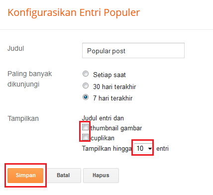 Cara Menampilkan Widget Popular Post Di Blog