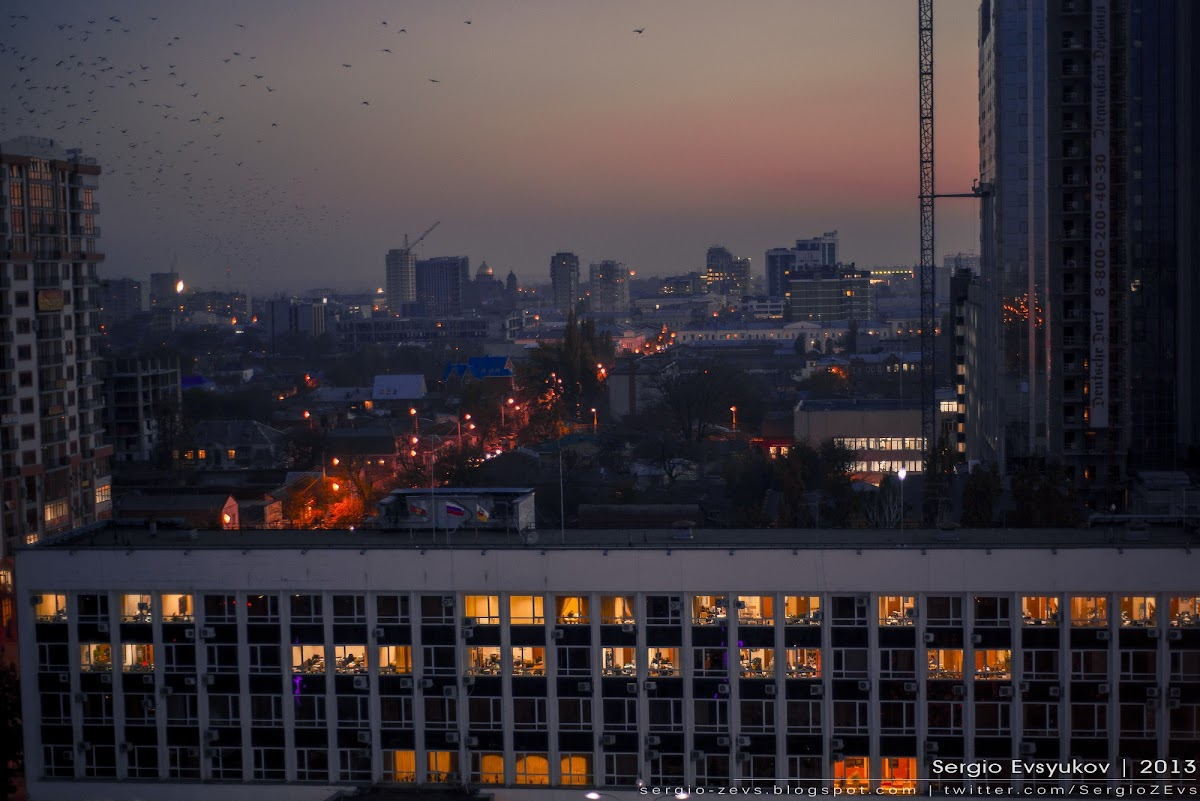 закат в Краснодаре
