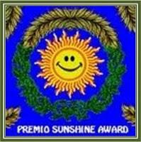 Premi Sunshine Award otorgat per l'Uri del blog Me suena que lo he leído