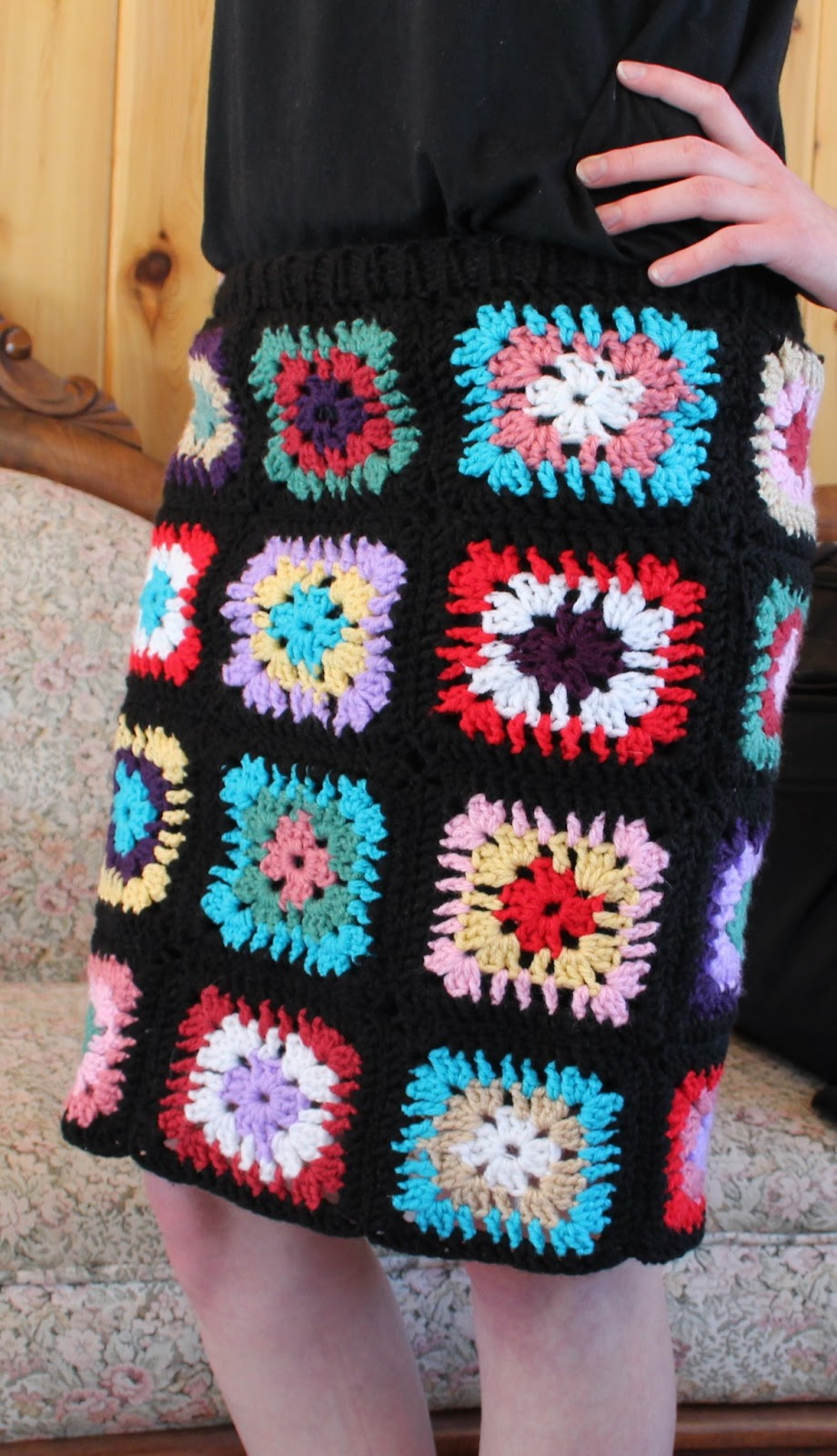 The Fuzzy Square: Granny Square Skirt