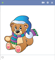 Winter icon teddy bear