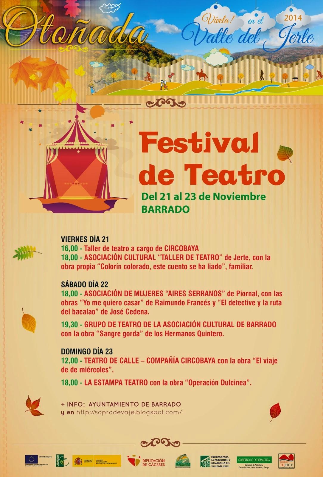FESTIVAL DE TEATRO (Barrado)