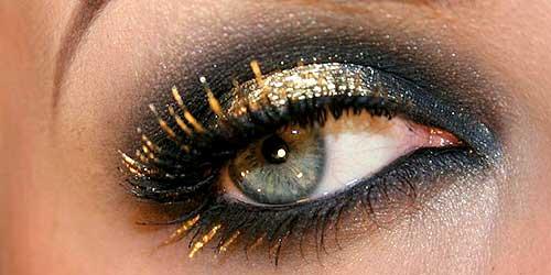 mascara de pestañas de colores para maquillajes de noche