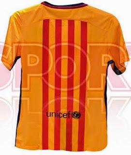 jual online Jersey Barcelona away terbaru musim depan 2015/2016