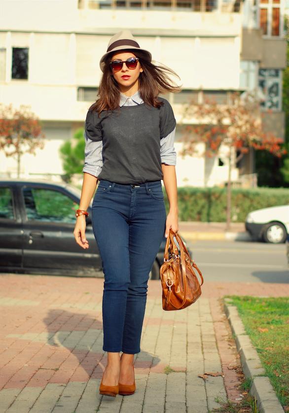 urban style, iş kombinleri,tory burch ayakkabılar, kahve rengi çanta modelleri,gömlek pantolon kombinleri, Ne giydim, trendydolap stili