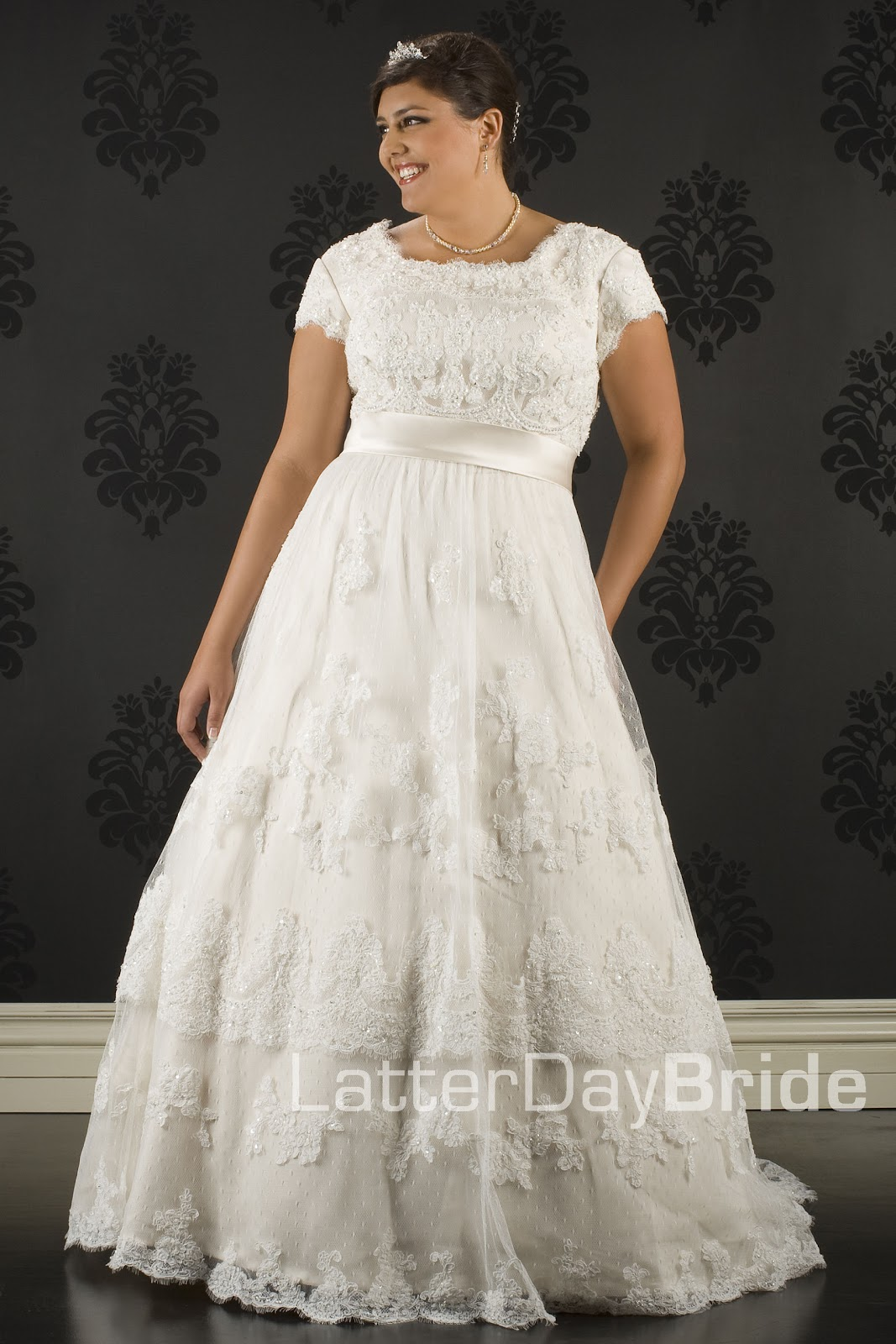 Modest Plus Size Wedding Dresses Utah 12