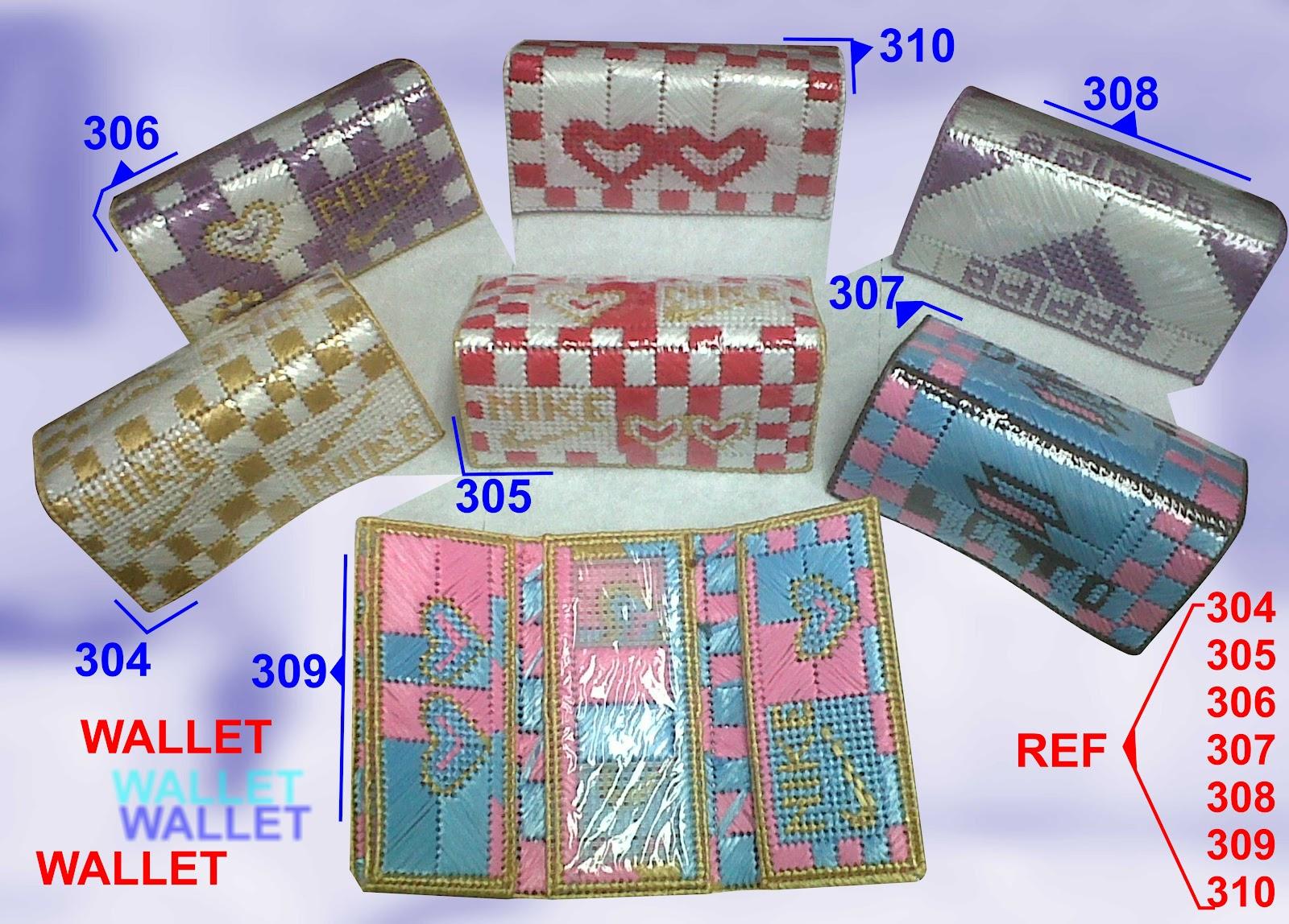 wallet hechas de rafia y camba todos los colores y diseños