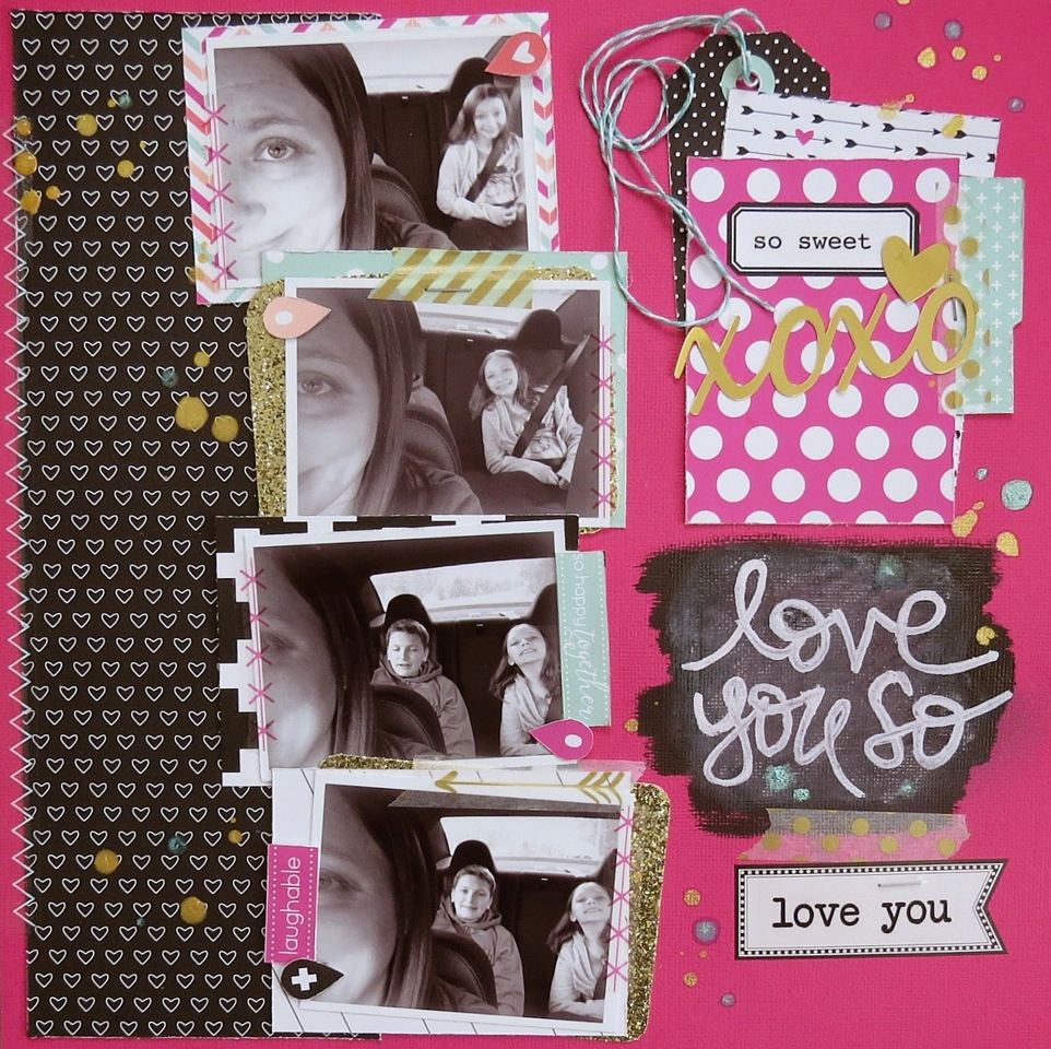 SRM Stickers Blog - ❤{Oh SRM, I Love You So..}❤ by Shannon - #layout #love #labels #twine #chalkboard #blackboard #stickerstitches #stickers