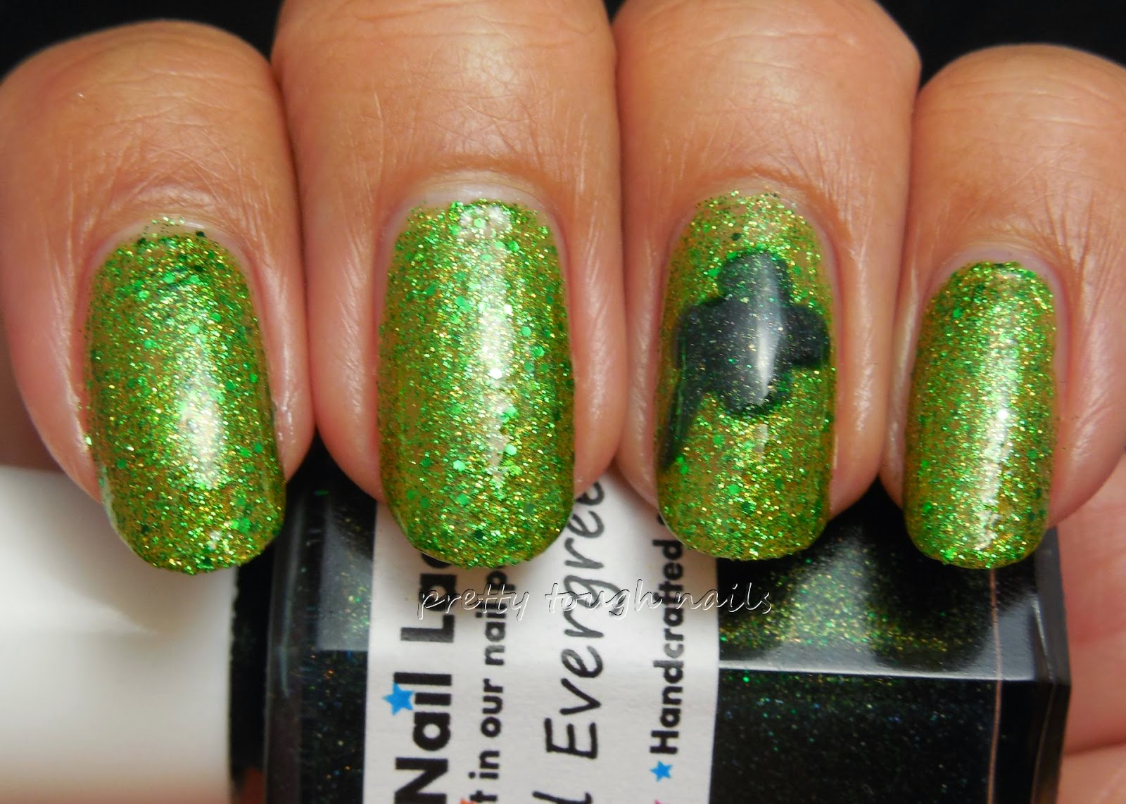 Butter London Swinger St Paddy's Nail Art