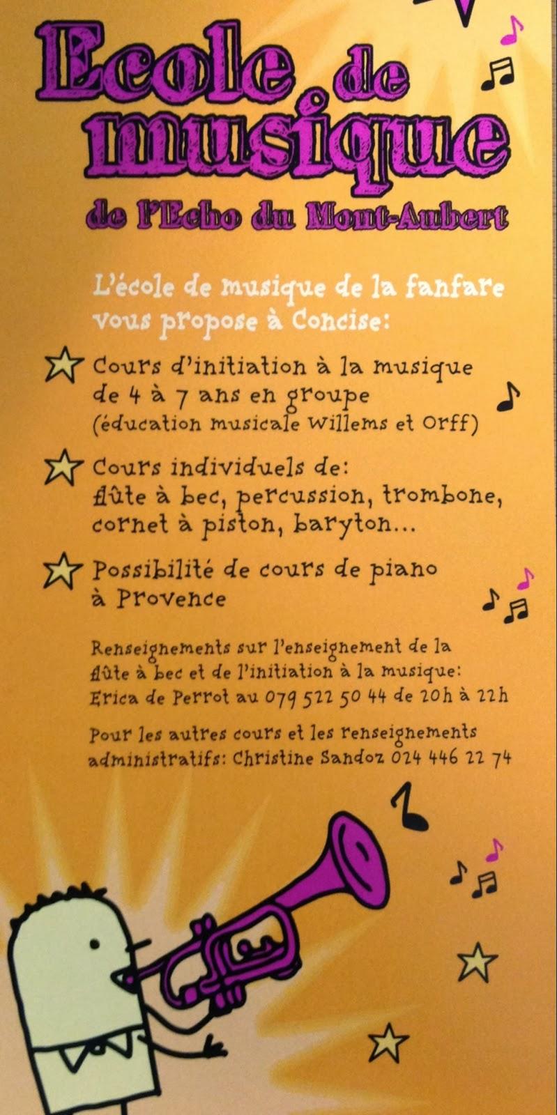 Concise, Ecole de musique, fanfare
