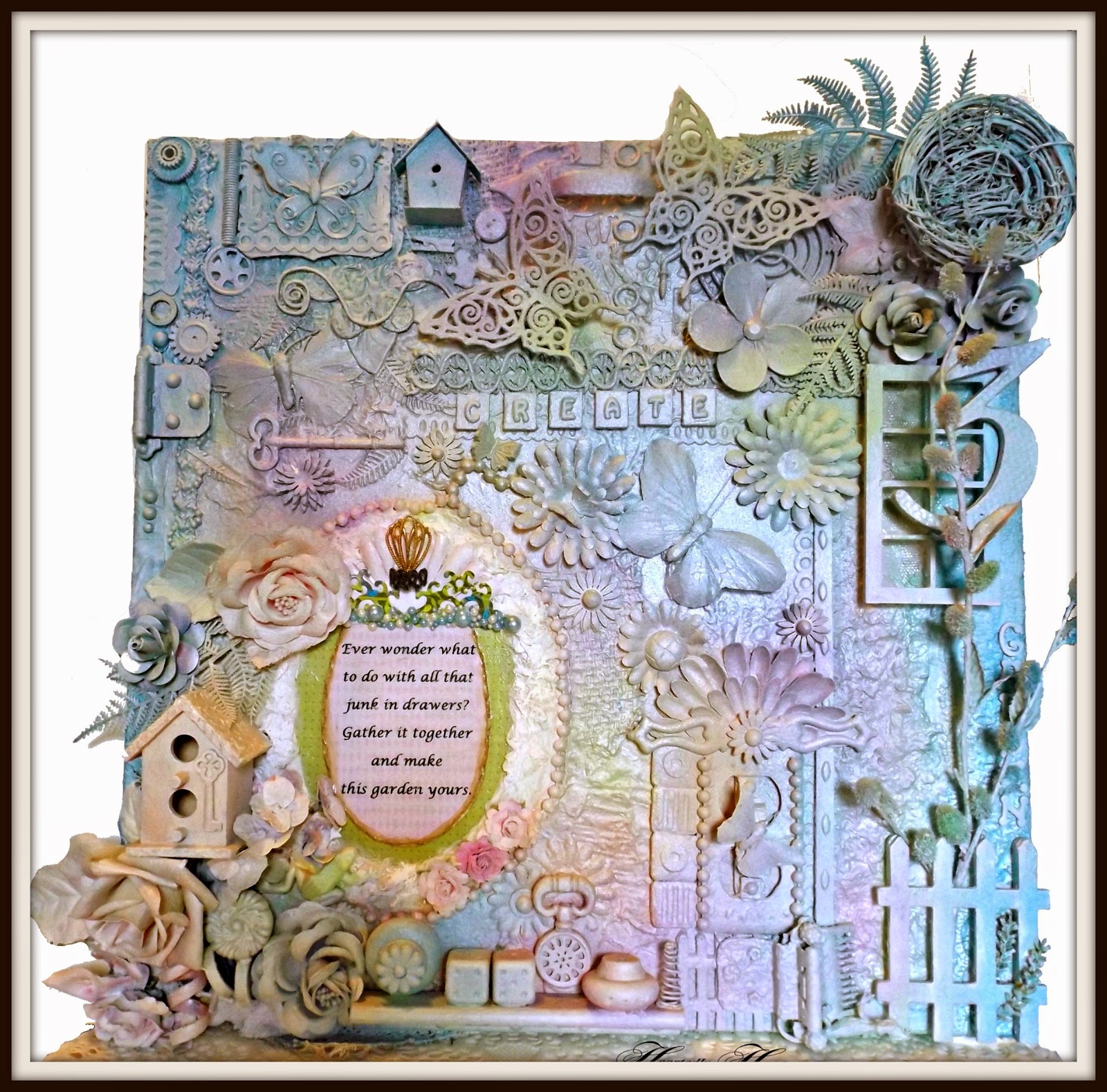 Mixed Media Canvas Collage:
