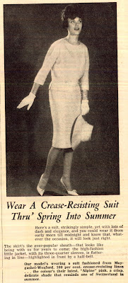 suit in the 1961 Australian Home Journal Fashion Magazine
