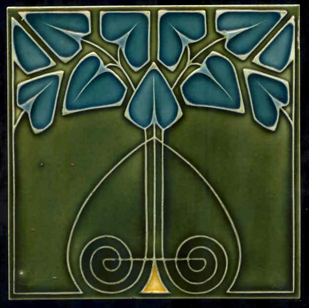 Shabby Chic Meets Art Nouveau Tiles
