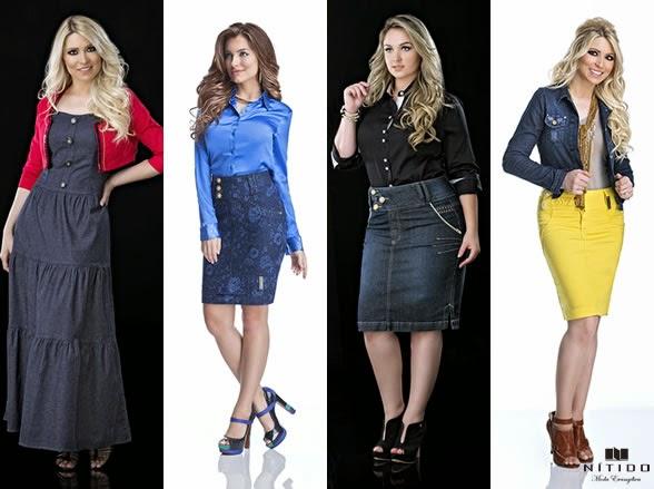 Aplicação de jeans na moda