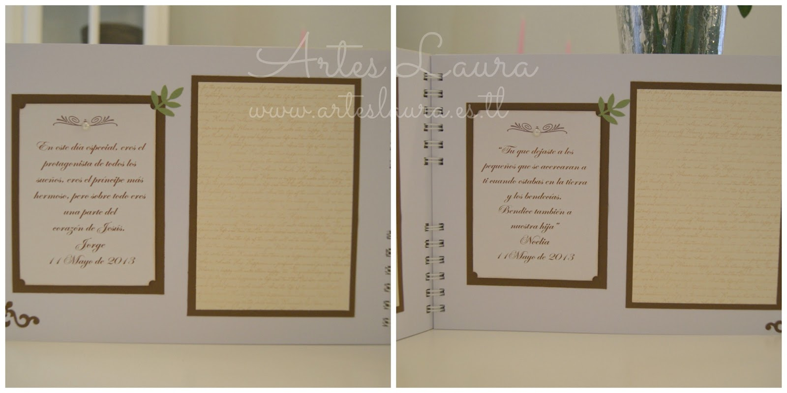 Libros de firma para primera comuni n artes laura for Interior libro de firmas comunion