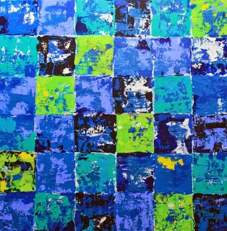 Lisa Meyer - Blue Patchwork