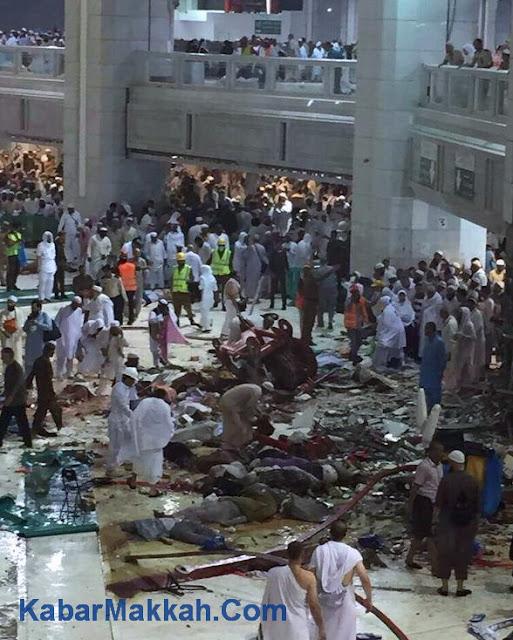 alat berat masjidil haram roboh