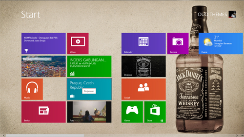 Jack Daniels Whiskey Theme For Windows 7 And 8