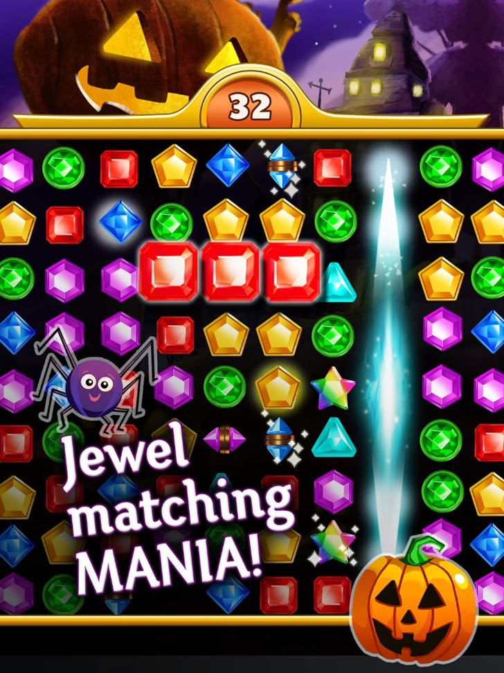 Jewel Mania: Halloween App iTunes App By TeamLava - FreeApps.ws