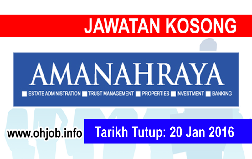 Jawatan Kerja Kosong Amanah Raya Berhad (ARB) logo www.ohjob.info januari 2016