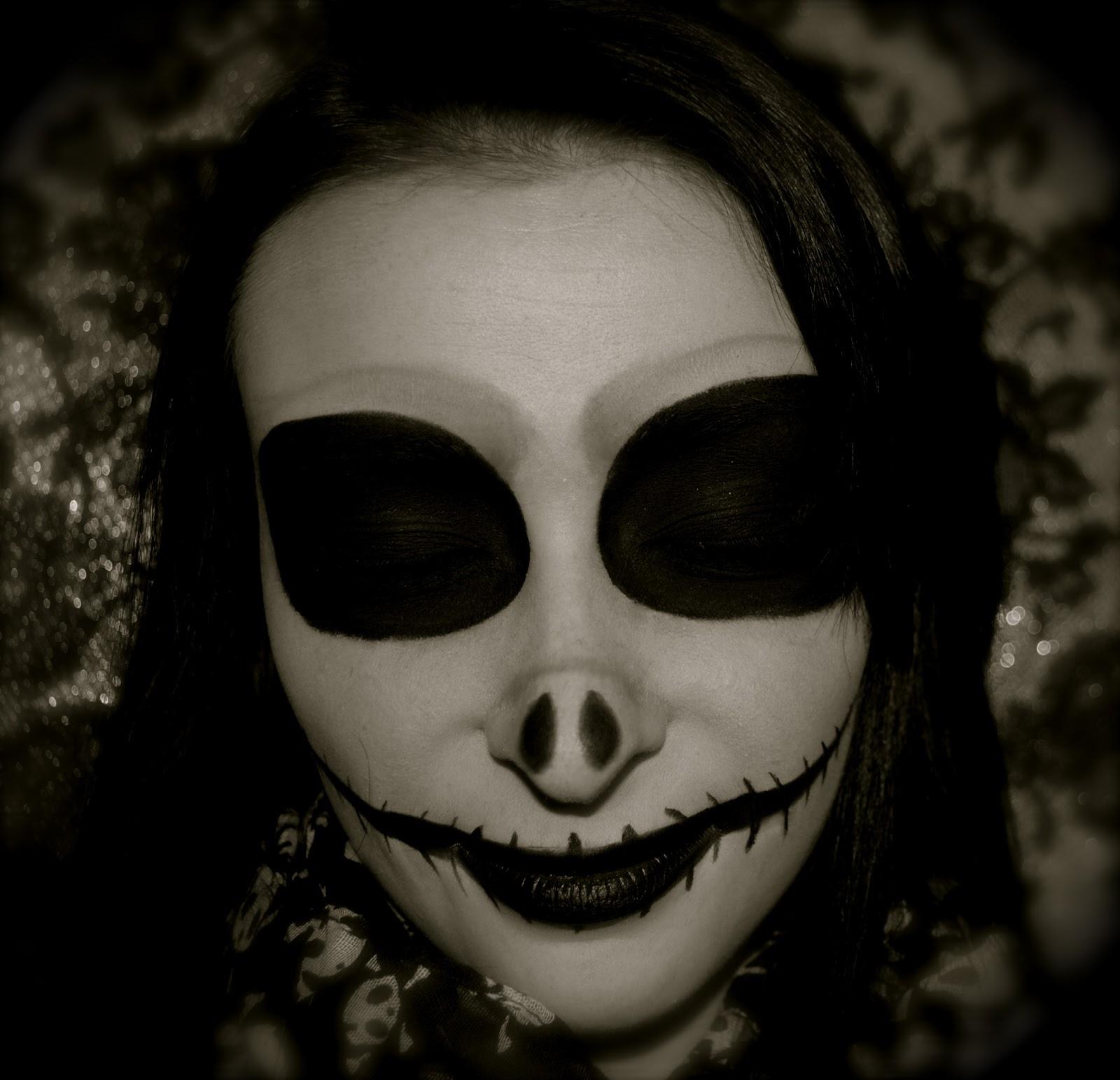 jack nightmare before christmas makeup - photo #19