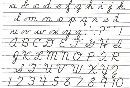 School Handwriting