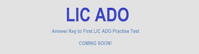 LIC ADO, answer key, results