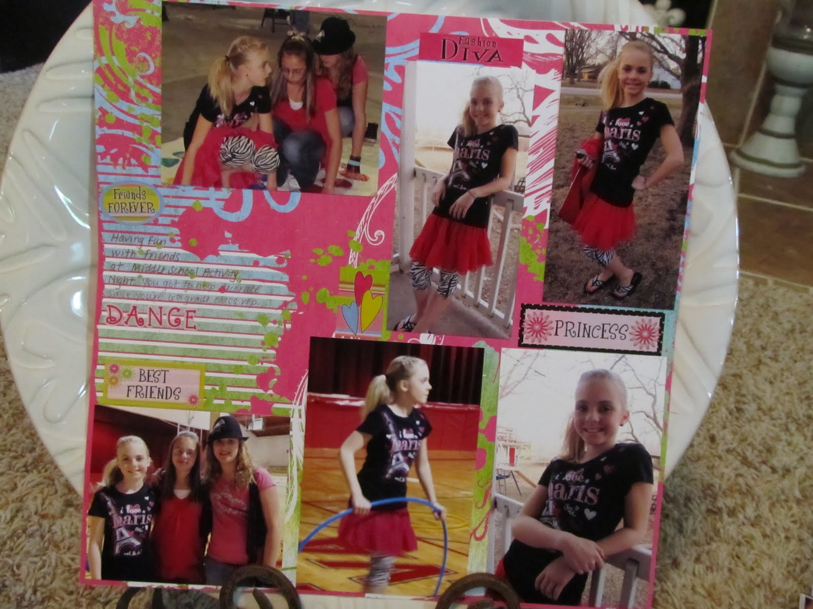 Justin bieber scrapbook ideas - Middle School Fun Night She Wanted The Perfect Outfit For This Occasion Pink Tutu Skirt Zebra Stripes It Is