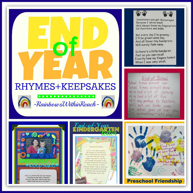 End of Year Rhymes + Keepsakes RoundUP via RainbowsWithinReach