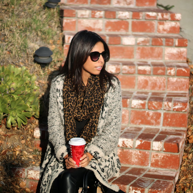 Leopard Scarf Sole Society Sunnies