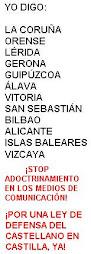 ¡Por una ley de defensa de la lengua castellana en Castilla, YA!