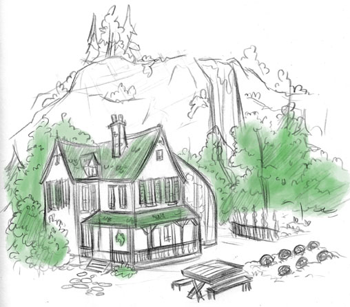 30 day draw blog day 23 draw your dream home